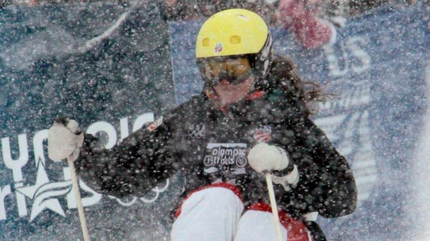 December 23, 2009: Ani Haas skiis through the moguls during the women's Olympic Trials Freestyle competition in Steamboat Springs, Colorado. Haas says she feels fortunate to have suffered just scratches to her left arm and chest when she encountered a black bear while running in western Montana, near her hometown of Missoula, Montana on July 29.