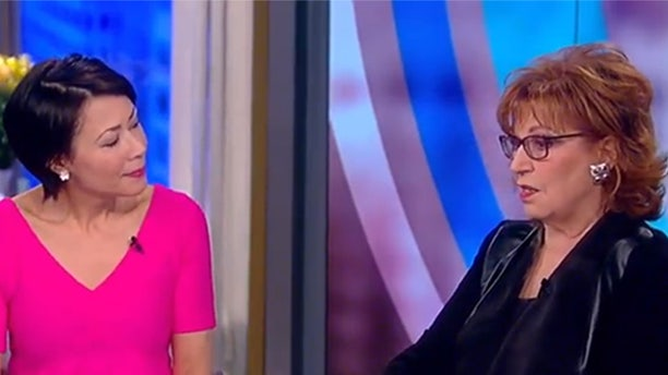"Ann Curry (left) and Joy Behar discussed Curry's time at NBC on ""The View."""