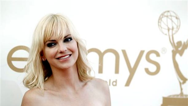 Sept. 18: Anna Faris arrives at the Emmy Awards (AP)