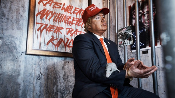 """""""Activist art collective"""" Indecline transformed a hotel room at Trump International Hotel & Tower in New York City."""