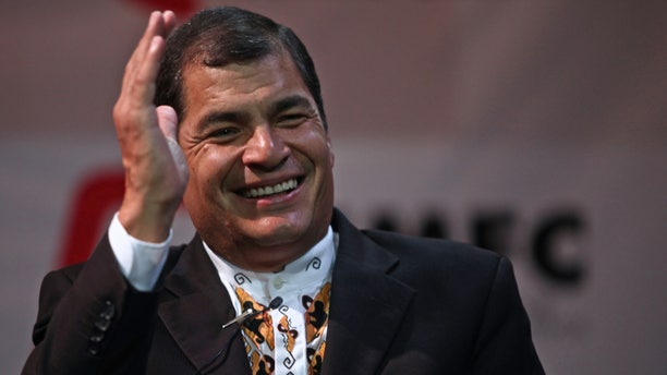 Leaders of the Spanish and Portuguese-speaking world held their annual goal-setting summit Friday amid tensions raised by the publication of U.S. diplomatic cable. Ecuador's president Rafael Correa, shown here Dec. 3, said the cables show how the U.S. tries to manipulate the region's governments.