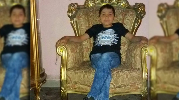 Bayan Rehan's nephew, who was killed in suspected gas attack in Syria on April 7.
