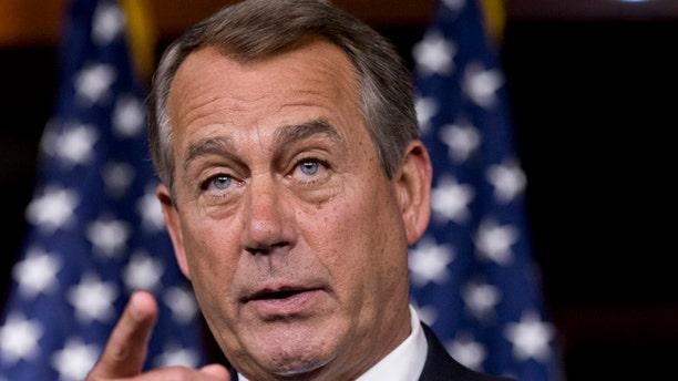 FILE: June 20, 2013: House Speaker John Boehner at a news conference on Capitol Hill in Washington, D.C.