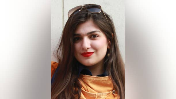 Undated photo made available Sunday Nov. 23, 2014,  showing Iranian-British woman Ghoncheh Ghavami, who was jailed for attending a men's volleyball game in Iran, has been released on bail, according to reports from her family, on Sunday Nov. 23, 2014.  Law graduate Ghavami was detained for attending a men's volleyball match on June 20, 2014, and held in solitary confinement.  (AP Photo / PA) UNITED KINGDOM OUT - NO SALES - NO ARCHIVES