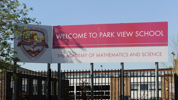 "April 16, 2014: Government inspectors say there is a ""culture of fear and intimidation"" at several British schools, including Park View School in Birmingham, investigated over allegations of a plot to run them along strict Islamic lines."
