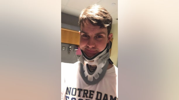 Meister wore a neck brace until this spring.