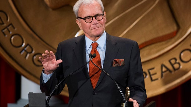 May 19, 2014: Journalist and winner of a personal Peabody Award for his work, Tom Brokaw, speaks after winning the award in New York. (Reuters)
