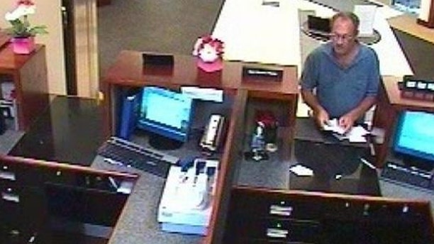 Authorities are searching for a bank robbery suspect known as 'The Bucket List Bandit'
