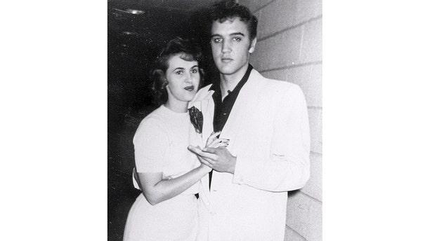 Wanda Jackson with Elvis Presley.