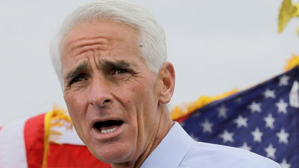 Nov. 4, 2013: This file photo shows former Florida Gov. Charlie Crist speaking in St. Petersburg, Fla.