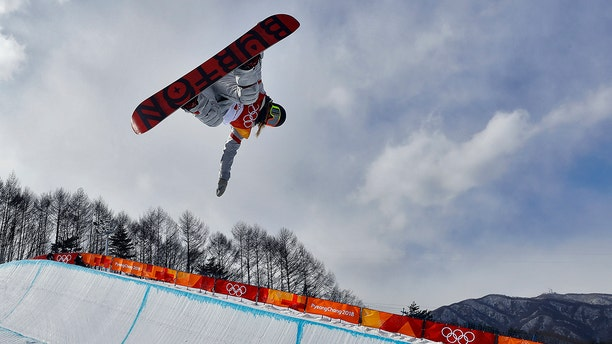 Chloe Kim, of the United States, runs the course during the women's halfpipe qualifying at Phoenix Snow Park at the 2018 Winter Olympics in Pyeongchang, South Korea, Monday, Feb. 12, 2018.