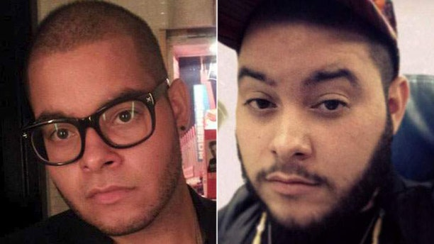 Christian Toro, left, and Tyler Toro, right were both arrested Thursday after the FBI raided their Bronx apartment.