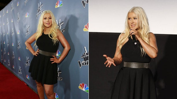"Christina Aguilera at ""The Voice"" premiere."