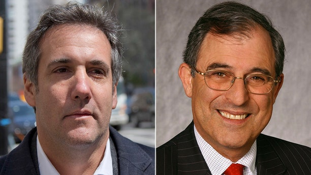 Michael Cohen (left), President Trump's longtime fixer now under federal investigation, has hired ex-Clinton lawyer Lanny Davis (right) to represent him as he distances himself from the president.