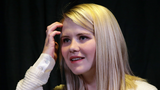 """FILE - In this April 24, 2015, file photo, kidnapping survivor Elizabeth Smart looks on during a news conference in Sandy, Utah. Wanda Barzee, a woman convicted of helping a former street preacher kidnap Smart in 2002 will be freed from prison more than five years earlier than expected, a surprise decision that Smart called """"incomprehensible"""" on Tuesday, Sept. 11, 2018. (AP Photo/Rick Bowmer, File)"""