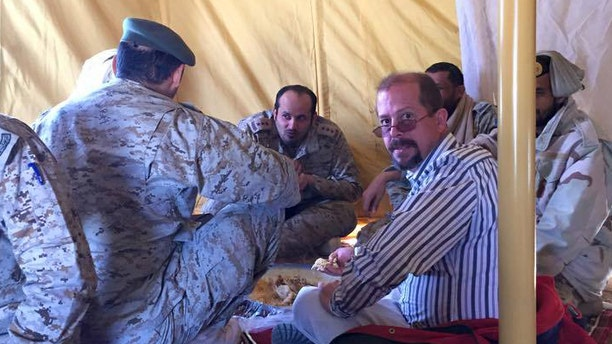 US defense contract worker Chris Cramer in a picture taken just days before his body was found outside his hotel in Tabuk, Saudi Arabia. A recent autopsy done at his family's request determined that homicide was the cause of death.