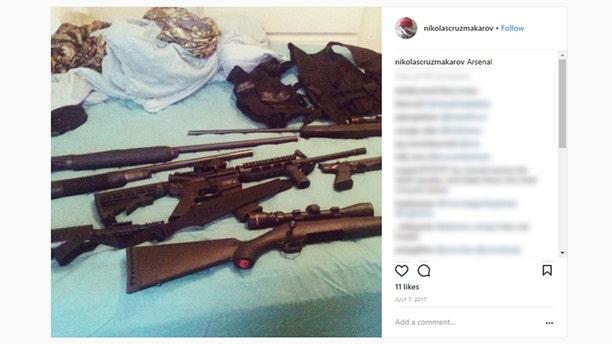 Nikolas Cruz posted several photos of guns on social media before Wednesday's deadly shooting.