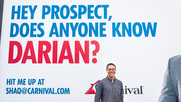 Darian Lipscomb received a free cruise from Carnival Cruise Line in exchange for his Snapchat handle.