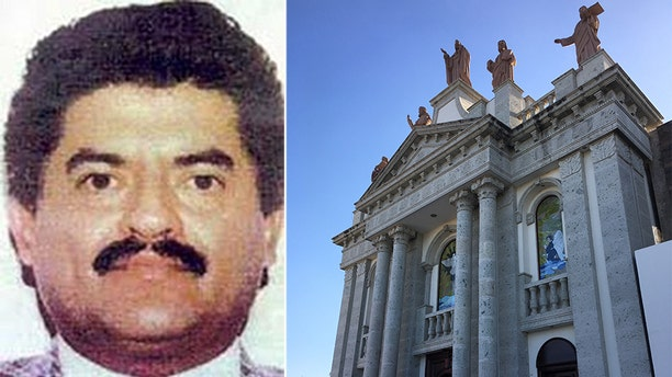 It is not known for sure but this is thought to be the tomb of Juan Jose Esparragoza Moreno, 'El Azul', a key Sinaloa Cartel capo said to have died of a heart attack in June 2014 but believed by many to still be at large