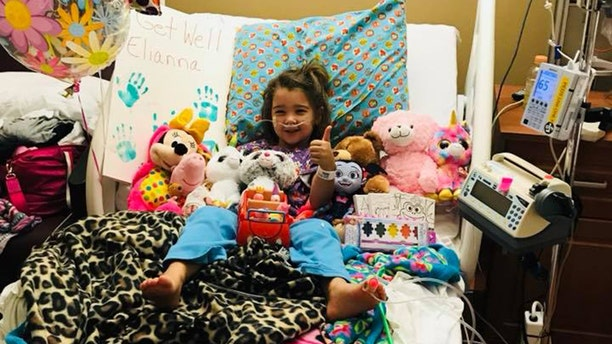 Elianna Grace, 4, has been receiving oxygen therapy at Sarasota Memorial Hospital.