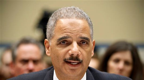 """Feb. 2, 2012: Attorney General Eric Holder testifies on Capitol Hill in Washington before the House Oversight and Government Reform Committee hearing on """"Operation Fast and Furious."""""""