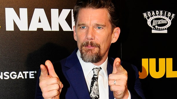 """Actor Ethan Hawke is offering his own take on the superhero movie """"Logan."""""""