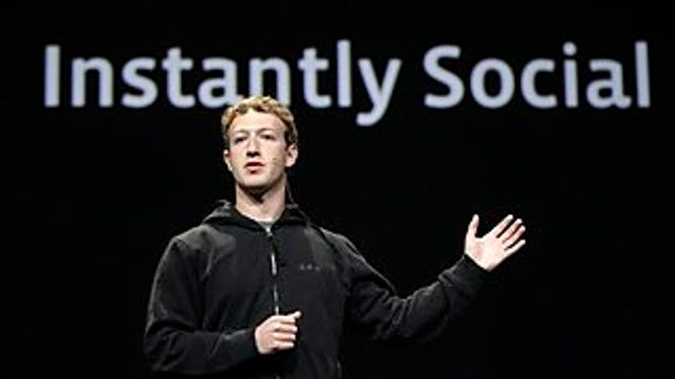 April 21: Facebook CEO Mark Zuckerberg delivers a keynote address at a conference in San Francisco.