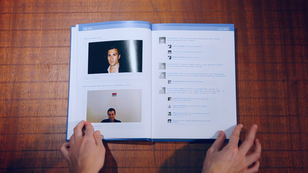 A Facebook application lets users export their Facebook pictures, stories, and memories into an actual book.