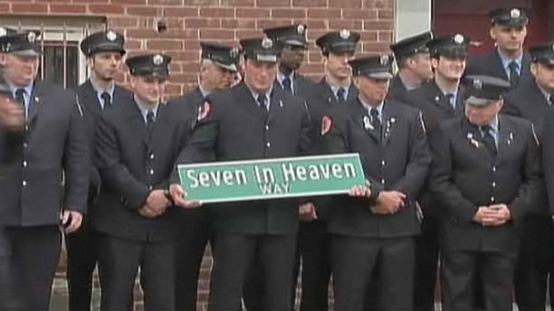 "New York Atheists are calling for the removal of this street sign, dedicated to fallen 9/11 firefighters because of the use of the word ""Heaven."""