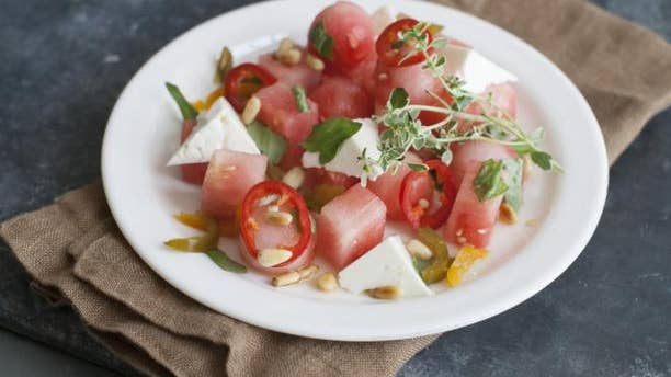 Spice up your salad with this delicious twist on watermelon salad.