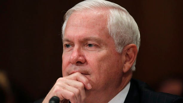 Then-Secretary of Defense Robert Gates testifies before the Senate Appropriations Committee Subcommittee on Capitol Hill in Washington, June 15, 2011.