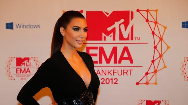 Nov. 11, 2012: Presenter Kim Kardashian arrives on the red carpet of the 2012 MTV European Music Awards show at the Festhalle in Frankfurt, central Germany.
