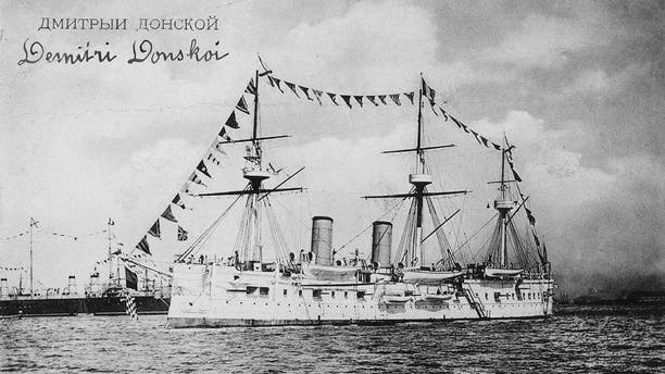 File photo of the Dmitry Donskoi. Are there riches to be found in its hulking wreckage?