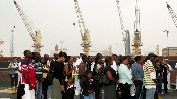 Haitians, shown here aboard a Mexican navy ship at Veracruz, have entered the U.S. via the Mexican border in increasing numbers.