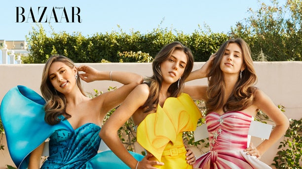 The Stallone sisters get glammed up for Harper's BAZAAR.