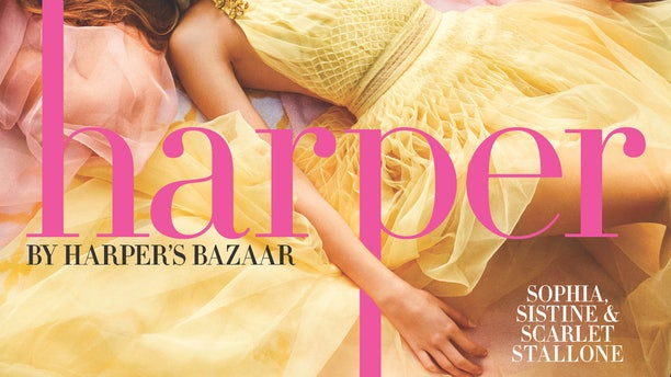 The Stallone sisters for Harper's BAZAAR.