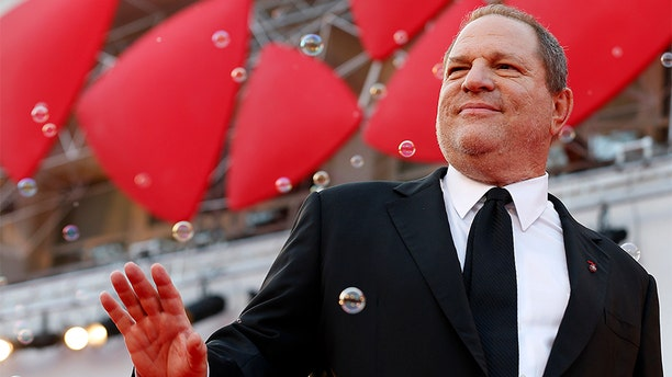 "Producer Harvey Weinstein poses during a red carpet for the movie ""Philomena"""