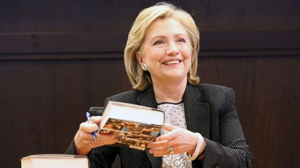 "Former Secretary of State Hillary Clinton signs copies of her new book ""Hard Choices"" Barnes & Noble at The Grove in Los Angeles Thursday, June 19, 2014."