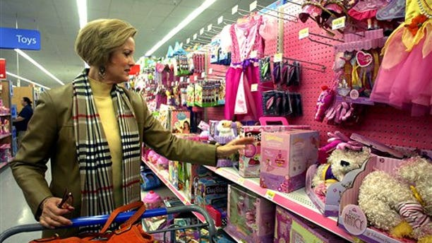 Dec. 23, 2010: Kathy Smith, of Brandon, shops for a present for her granddaughter at Wal-Mart in Pearl, Miss.
