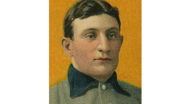 FILE: The third finest known example of the legendary T206 Honus Wagner baseball card from c. 1909.