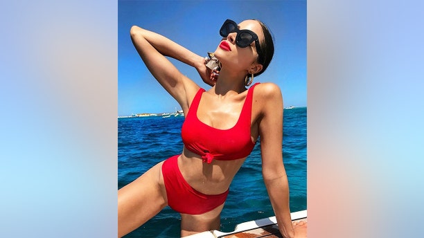 """Olivia Culpo unveiled a red-hot look this year when she hit the waves, but not before striking a pose for the 'gram. For more photos of Culpo, visit <a data-cke-saved-href=""""https://hollywoodlife.com"""" href=""""https://hollywoodlife.com"""" target=""""_blank"""">HollywoodLife.com</a>."""