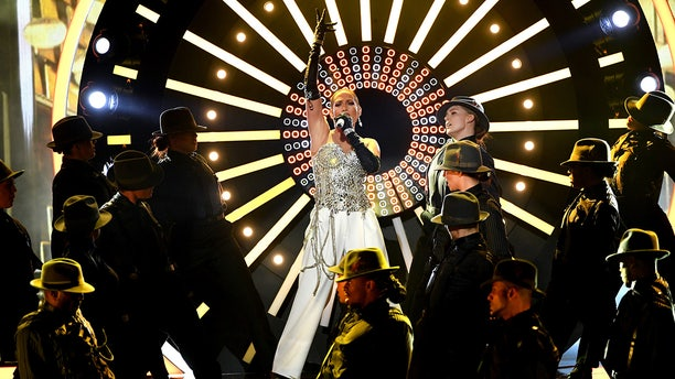 """Jennifer Lopez at the Billboard Music Awards. The singer took a fall over the weekend during her Las Vegas """"All I Have"""" residency."""