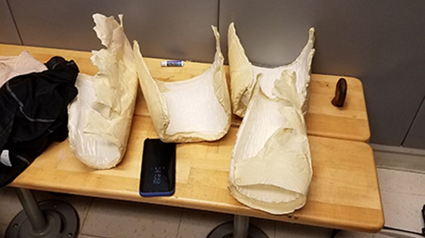 Nine pounds of the substance was discovered and tested. It tested positive for cocaine.