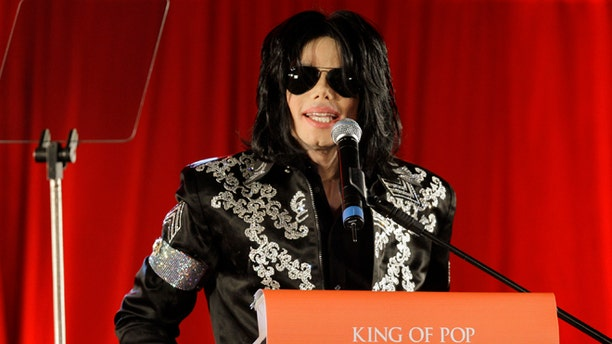 March 5, 2009: In this file photo, US singer Michael Jackson announces at a press conference that he is set to play ten live concerts at the London O2 Arena in July 2009.