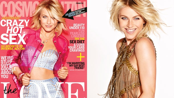 Julianne Hough on the cover of the Feb. 2013 issue of Cosmopolitan.