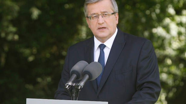 June 23, 2014: Poland's President Bronislaw Komorowski announces that good Polish-U.S. ties are not affected by the critical private remarks leaked from a secret tape.