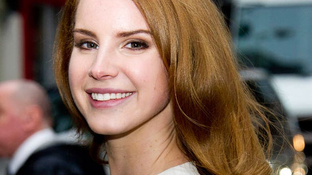 """Feb 2: Singer Lana Del Rey arrives for a taping of the """"Late Show with David Letterman."""" (AP)"""