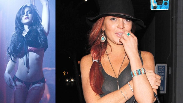 "Lindsay Lohan in the 2007 film ""I Know Who Killed Me,"" right, and Lohan in Los Angeles, left."