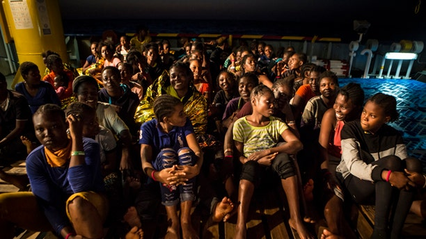 Many of the Refugees have expressed gratitude to rescue crews for safe passage to Europe.