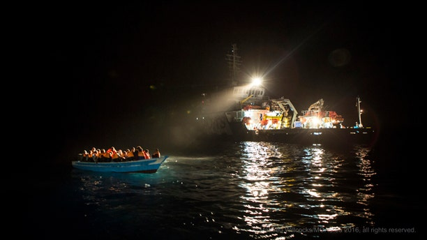 Vessels like the Responder patrol the waters of the Mediterranean Sea to rescue large groups of refugees.